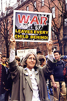 Anti Iraq War demonstration Boston MA 3.29.03
