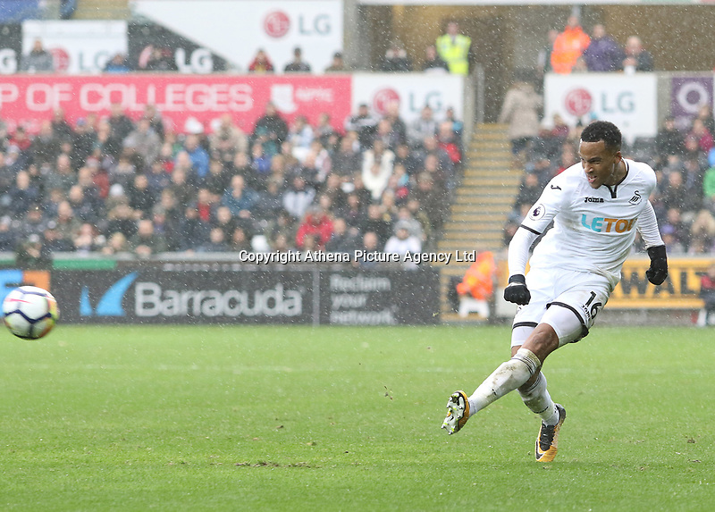 Martin Olsson of Swansea City during the Premier League match between Swansea City and Leicester City at The Liberty Stadium, Swansea, Wales, UK. Saturday 21 October 2017