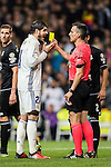 Alvaro Morata (l) of Real Madrid argues referee Santiago Jaime Latre during the La Liga match between Real Madrid and RC Deportivo La Coruna at the Santiago Bernabeu Stadium on 10 December 2016 in Madrid, Spain. Photo by Diego Gonzalez Souto / Power Sport Images
