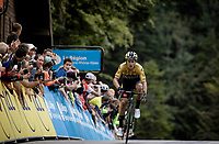 Primoz Roglic (SVK/Jumbo-Visma) wins stage 2 summiting up the Col de Porte & crowns himself the new GC leader<br /> <br /> Stage 2: Vienne to Col de Porte (135km)<br /> 72st Critérium du Dauphiné 2020 (2.UWT)<br /> <br /> ©kramon