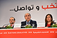 Nabil Baffoun the president of The Independent High Electoral Commission  announced the preliminary results of the legislative elections held on Sunday (October 6th) to elect members of the new parliament Tunis on October 9, 2019