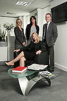 Pictured seated is Melissa Chantrill with from left, Su Garner, Jenny Colver and Scott McKittrick