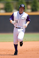 Brent Morel #21 of the Winston-Salem Dash rounds the bases after hitting a home run at Wake Forest Baseball Park May 10, 2009 in Winston-Salem, North Carolina. (Photo by Brian Westerholt / Four Seam Images)