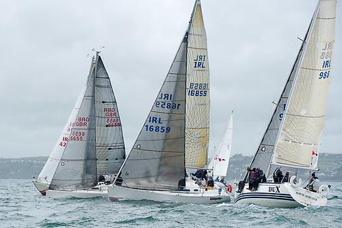 ICRA National Championships racing in 2017 in Cork Harbour. The ICRA fleet returns to Crosshaven in 2022 as part of Cork Week Regatta