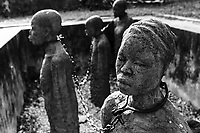 TANZANIA Zanzibar, Stone town is part of UNESCO heritage, slave trade memorial at anglican church / TANSANIA Insel Sansibar, Stonetown, die Altstadt ist Teil des Unesco Welterbe Programm, Denkmal fuer den Sklavenhandel an der anglikanische Kirche