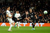 30th September 2021; Tottenham Hotspur Stadium. Tottenham, London, England; UEFA Conference League football, Tottenham v NS Mura: Nardin Mulahusejnovic of NS Mura with a diving header at goal late in the 1st half