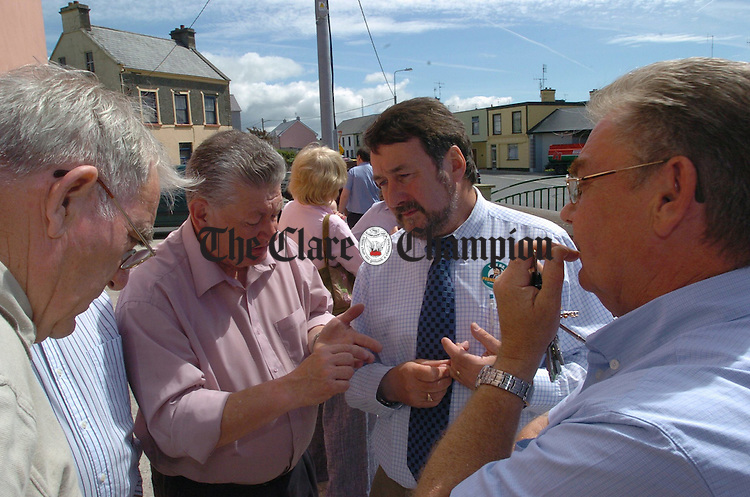 Tom Prenderville with supporters outside the Kilrush Town Council count. Photograph by John Kelly.