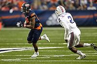 SAN ANTONIO, TX - OCTOBER 10, 2015: The Louisiana Tech University Bulldogs defeat the University of Texas at San Antonio Roadrunners 34-31 at the Alamodome. (Photo by Jeff Huehn)