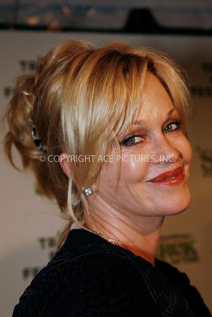 WWW.ACEPIXS.COM . . . . .  ....April 21 2010, New York City....Actor Melanie Grifith arriving at the premiere of 'Shrek Forever After' as part of the Tribeca Film Festival at the Ziegfeld Theatre on April 21 2010 in New York City....Please byline: NANCY RIVERA- ACEPIXS.COM.... *** ***..Ace Pictures, Inc:  ..Tel: 646 769 0430..e-mail: info@acepixs.com..web: http://www.acepixs.com