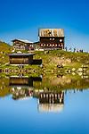 Oesterreich, Tirol, oberhalb von Fieberbrunn in den Kitzbueheler Alpen: Wildseeloderhaus am Wildseeloder See - auch Wildsee genannt (1.854 m) | Austria, Tyrol, upon Fieberbrunn within Kitzbuehel Alps: Wildseeloder house at Lake Wildseeloder (1.854 m)