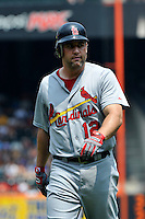 St. Louis Cardinals outfielder Lance Berkman #12 during a game against the New York Mets at Citi Field on July 21, 2011 in Queens, NY.  Cardinals defeated Mets 6-2.  Tomasso DeRosa/Four Seam Images