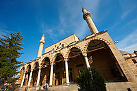The Selimiye Cammi (Mosque) next to the Mevlâna museum,  the mausoleum of Jalal ad-Din Muhammad Rumi, a Sufi mystic also known as Mevlâna or Rumi. It was also the dervish lodge (tekke) of the Mevlevi order, better known as the whirling dervishes. Konya, Turkey