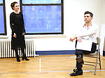 """Laura Osnes and Tony Yazbeck during a Performance Sneak Peek of The MCP Production of """"The Scarlet Pimpernel"""" at Pearl Rehearsal studio Theatre on February 14, 2019 in New York City."""