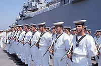 - Italian Navy, military ceremony in the port of Taranto....- Marina militare italiana, cerimonia nel porto di Taranto