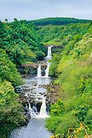 Umauma Falls, Kona, Big Island, Hawaii, Pacific Ocean