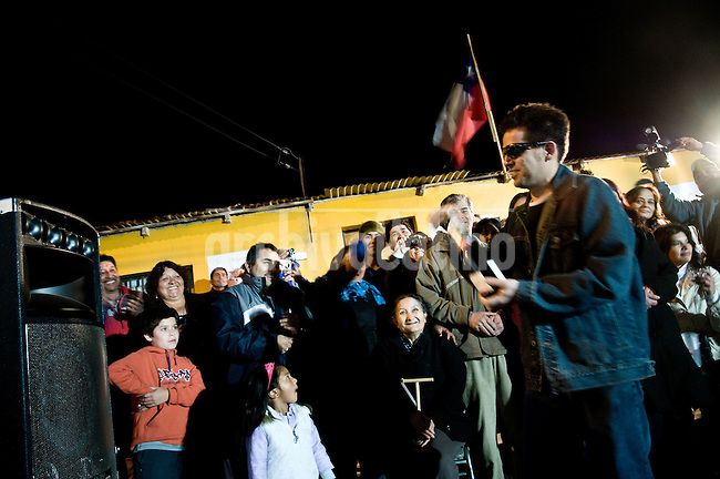 Alex Vega, one  of the 33 miners that were rescued after being 70 days at the bottom of San Jose mine in North of Chile, returns to his home in Copiapo, were his relatives, friends and neighbors prepared a welcome party for him.