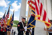 Visitors attend the National Memorial Day Observance at Arlington National Cemetery, Arlington, Virginia, May 27, 2019. This was the 151st Memorial Day wreath-laying and observance ceremony at Arlington National Cemetery, conducted by U.S. Vice President Mike Pence. (U.S. Army photo by Elizabeth Fraser / Arlington National Cemetery / released)