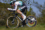 Jordi Meeus (BEL) Bora-Hansgrohe in action during Stage 2 of the 100th edition of the Volta Ciclista a Catalunya 2021, an 18.5km Individual Time Trial around Banyoles, Spain. 23rd March 2021.   <br /> Picture: Bora-Hansgrohe/Luis Angel Gomez/BettiniPhoto | Cyclefile<br /> <br /> All photos usage must carry mandatory copyright credit (© Cyclefile | Bora-Hansgrohe/Luis Angel Gomez/BettiniPhoto)