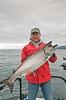 King salmon charter fishing in Sitka, Alaska.
