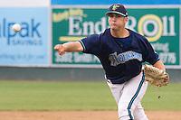 August 4, 2007: RHP Bryan Harris of the Everett AquaSox throws a pitch during a Northwest League game at Everett Memorial Stadium in Everett, Washington.
