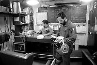 - Italian Navy, Vittorio Veneto cruiser, the flight crew room (May 1984)<br /> <br /> - Marina Militare Italiana, incrociatore Vittorio Veneto, la sala del personale di volo (Maggio 1984)
