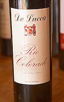 A bottle of R de Lucca Rio Colorado Bodega De Lucca Winery, El Colorado, Progreso, Uruguay, South America