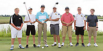 August 28, 2017- Tuscola, IL- The 2017 Tuscola Warrior Boys Golf team. From left are Matthew Erickson, Caleb Arends, Colter Lewis, Ethan Stumeier, Kyle Zimmer, Coulson Poffenberger, and Tyler Bialeschki. (Not pictured: Corey Dunn and Hunter Brandt. [Photo: Douglas Cottle]