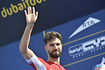 Nacer Bouhanni (FRA) Cofids at sign on before the start of Stage 3 The Silicon Oasis Stage of the Dubai Tour 2018 the Dubai Tour's 5th edition, running 180km from Skydive Dubai to Fujairah, Dubai, United Arab Emirates. 7th February 2018.<br /> Picture: LaPresse/Fabio Ferrari   Cyclefile<br /> <br /> <br /> All photos usage must carry mandatory copyright credit (© Cyclefile   LaPresse/Fabio Ferrari)