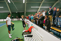 18-01-14,Netherlands, Rotterdam,  TC Victoria, Wildcard Tournament,   Fabian van der Lans (NED)  wins and gets the applause from the crowd <br /> Photo: Henk Koster