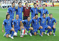 Italy lines up before the game.  Italy defeated Germany, 2-0, in overtime in their FIFA World Cup semifinal match at FIFA World Cup Stadium in Dortmund, Germany, July 4, 2006.
