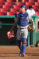 May 16, 2010: Petey Paramore of the Stockton Ports during game against the High Desert Mavericks at Mavericks Stadium in Adelanto,CA.  Photo by Larry Goren/Four Seam Images