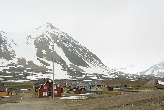 The town of Ny Alesund, founded as a mining town but now a scientific research base. Spitsbergen.