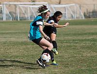 San Diego, CA - January 22, 2015: Girls Fantasy Camp participants train.