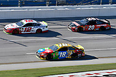 #12: Ryan Blaney, Team Penske, Ford Fusion REV, #18: Kyle Busch, Joe Gibbs Racing, Toyota Camry M&M's, #20: Erik Jones, Joe Gibbs Racing, Toyota Camry Craftsman