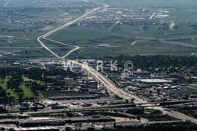 Highway 50 looking west. Pueblo, Colorado. June 2015