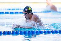 Santa Clara, California - Friday June 3, 2016: Michael Messner races breaststroke in the Men's 400 LC Meter IM B final.