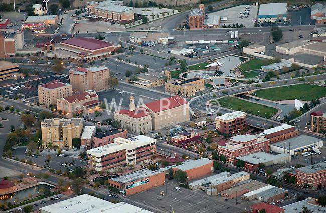 Aerial of downtown Pueblo. Oct 2012