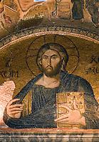 Türkei, in der byzantinischen Chora-Kirche (Kariye Müzesi) in Istanbul, Pantokrator-Darstellung , UNESCO-Weltkulturerbe