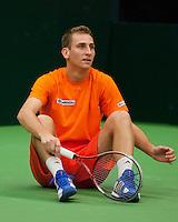 08-02-12, Netherlands,Tennis, Den Bosch, Daviscup Netherlands-Finland, Training, Thiemo de Bakker