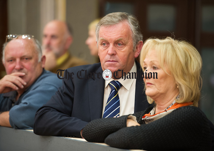 Fine Gael's Ger Kennedy during the election count at The West county Hotel, Ennis. Photograph by John Kelly.