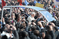 Pope Benedict XVI during The last time general audience in St. Peter square at the Vatican, Wednesday. February 27, 2013