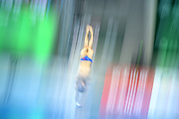 China's Hao Yang competing in the Men's 10m platform semifinal A<br /> <br /> Photographer Hannah Fountain/CameraSport<br /> <br /> FINA/CNSG Diving World Series 2019 - Day 3 - Sunday 19th May 2019 - London Aquatics Centre - Queen Elizabeth Olympic Park - London<br /> <br /> World Copyright © 2019 CameraSport. All rights reserved. 43 Linden Ave. Countesthorpe. Leicester. England. LE8 5PG - Tel: +44 (0) 116 277 4147 - admin@camerasport.com - www.camerasport.com