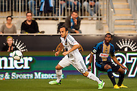 Landon Donovan (10) of the Los Angeles Galaxy. The Los Angeles Galaxy defeated the Philadelphia Union 4-1 during a Major League Soccer (MLS) match at PPL Park in Chester, PA, on May 15, 2013.