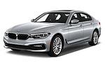 2018 BMW 5 Series Sport 4 Door Sedan angular front stock photos of front three quarter view