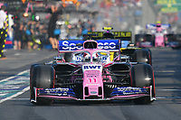 March 16, 2019: Sergio Perez (MEX) #11 from the Racing Point F1 Team leaves the pit to start the qualification session at the 2019 Australian Formula One Grand Prix at Albert Park, Melbourne, Australia. Photo Sydney Low