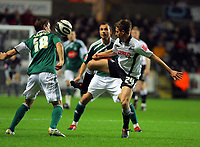 ATTENTION SPORTS PICTURE DESK<br /> Pictured: Joe Allen of Swansea City in action <br /> Re: Coca Cola Championship, Swansea City Football Club v Plymouth Argyle at the Liberty Stadium, Swansea, south Wales. Tuesday 08 December 2009