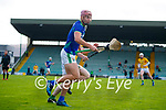 Shane Whitty, Meath in action against Fionan Mackessy, Kerry, during the Round 1 meeting of Kerry and Meath in the Joe McDonagh Cup at Austin Stack Park in Tralee on Sunday.