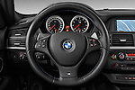 Steering wheel view of a 2013 Bmw X6 M 5 Door Suv 4WD