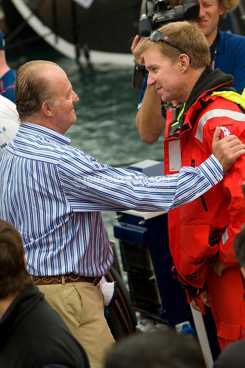 King of Spain and Ken Read, SKIPPER of PUMA RACING TEAM .Volvo Ocean Race leg 1 start in Alicante, Spain 11/10/2008 VOLVO OCEAN RACE 2008-2009