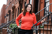 """NEW YORK - SUNDAY NEWS:  Joselin Linder, 42, near her home in Brooklyn, NY, Wednesday, March 1, 2017.   Linder recently published a book, """"The Family Gene.""""<br /> <br /> PICTURED:   <br /> <br /> (Angel Chevrestt, 646.314.3206)"""
